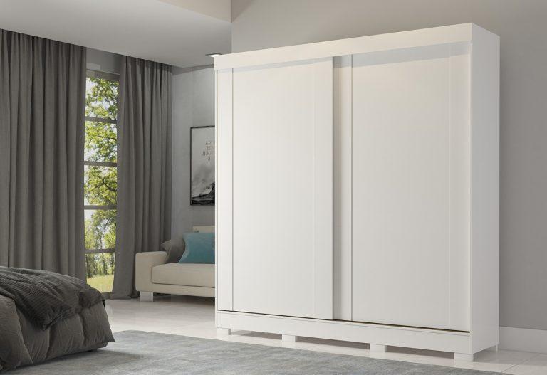 Roupeiro Ilhéus 2 portas Branco