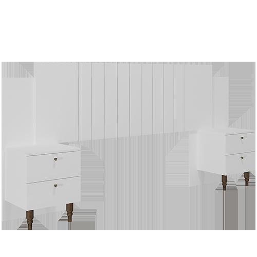 Cabeceira Gênova Branca