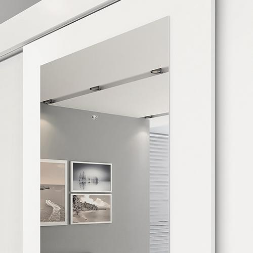 Porta central com espelho Branco