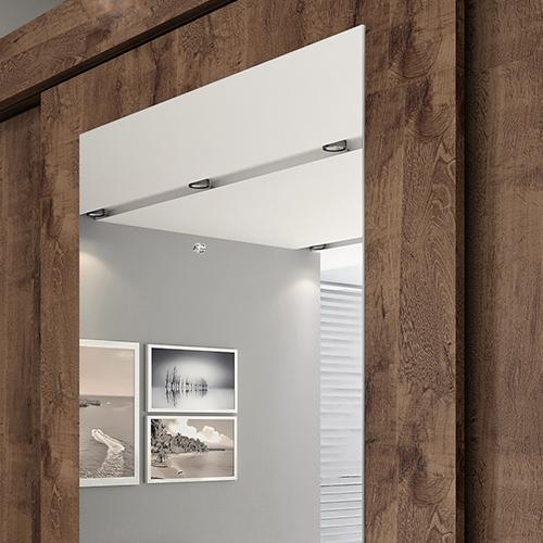 Porta central com espelho Café